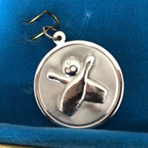 Jewelry - Silver Charm. Bowling ball and Pins.  NOS